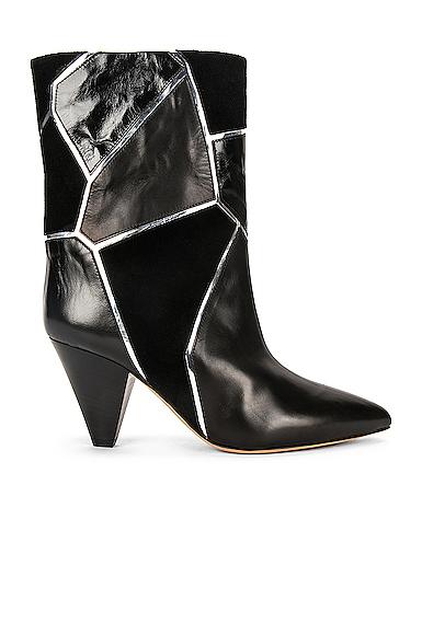 Isabel Marant Lisabel Boot In Black & Silver