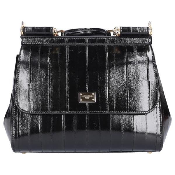 Dolce & Gabbana Women Handbag Sicily M Eelleather In Black