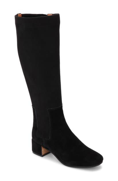 Gentle Souls By Kenneth Cole Ella Stretch Knee High Boot In Black Leather