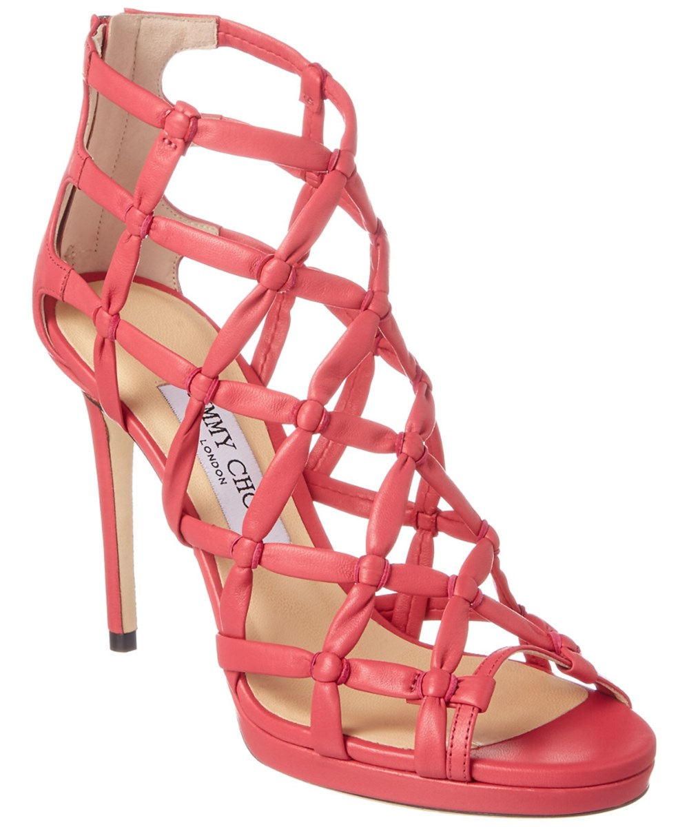 Jimmy Choo Venus 100 Leather Sandal In Multiple Colors
