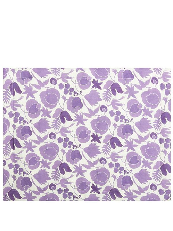 La Doublej Placemat Set - Wildbird Viola Small In Purple