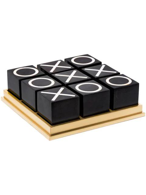 L'objet Shell Tic-tac-toe Set In Black