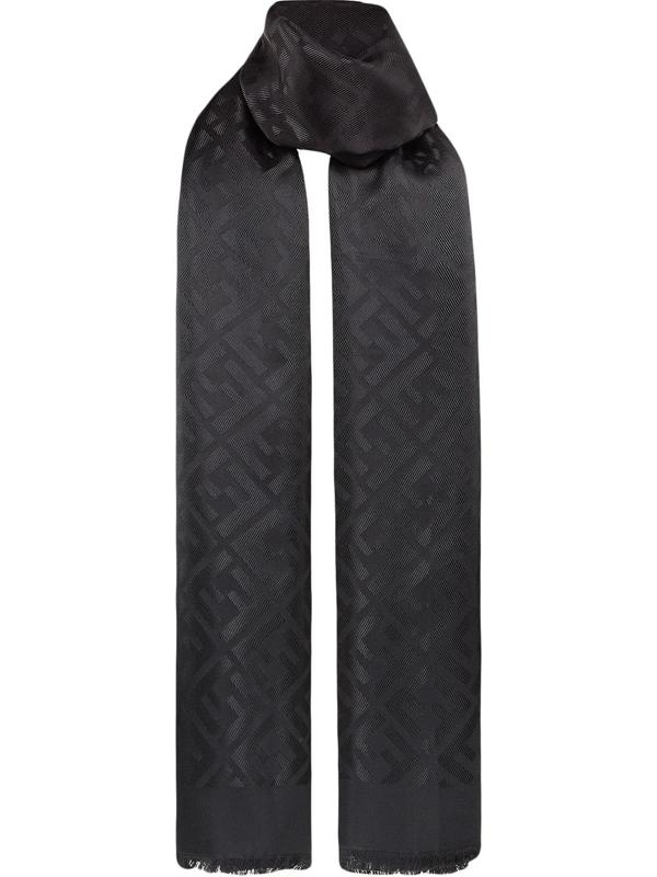 Fendi Silk Shawl In Black