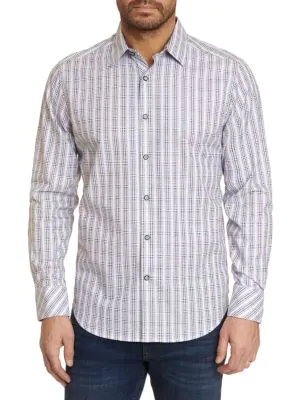 Robert Graham Men's Illusionist Classic-fit Ombre Check Sport Shirt In Grey