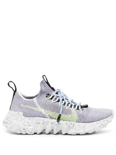 Nike Space Hippie 01 Primeknit Sneaker In Grey