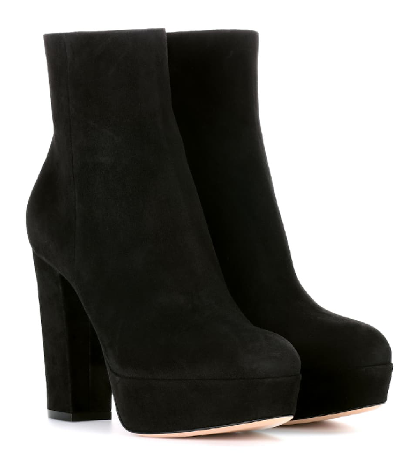 Gianvito Rossi Exclusive To Mytheresa - Suede Ankle Boots In Black