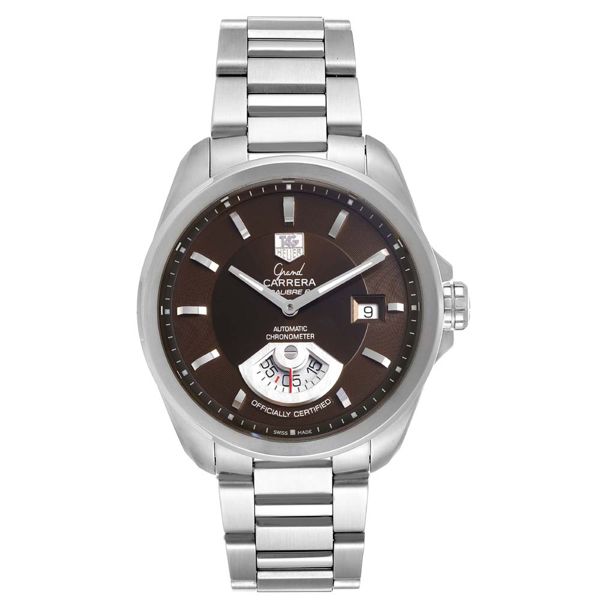 Pre-owned Tag Heuer Brown Stainless Steel Carrera Automatic Wav511c Men's Wristwatch 40 Mm