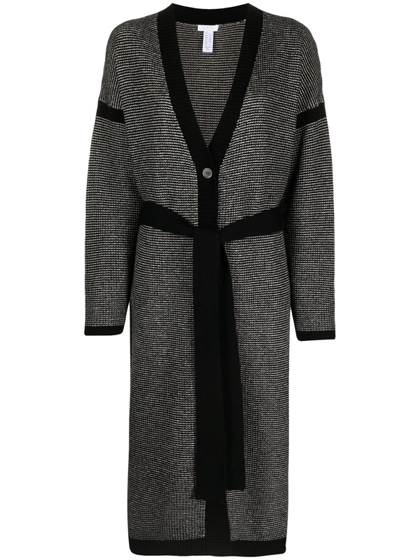 Eres Belted Wool And Cashmere Cardigan In Black