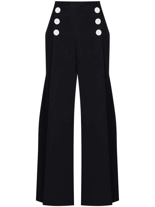 Rosie Assoulin Blue High Waist Sailor Trousers