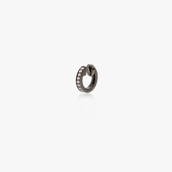 Repossi 'berbere Module' Ear Cuff Aus 18kt Weissgold Mit Diamanten In Black