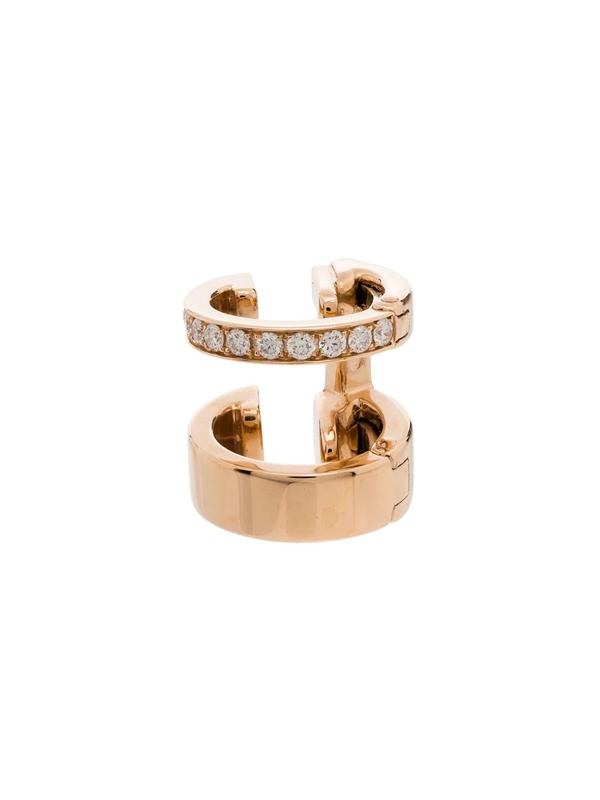Repossi 18kt Rose Gold Berbere Diamond Earring Cuff In Pink