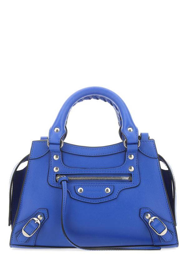Balenciaga Women's Mini Neo Classic Leather Satchel In Blue