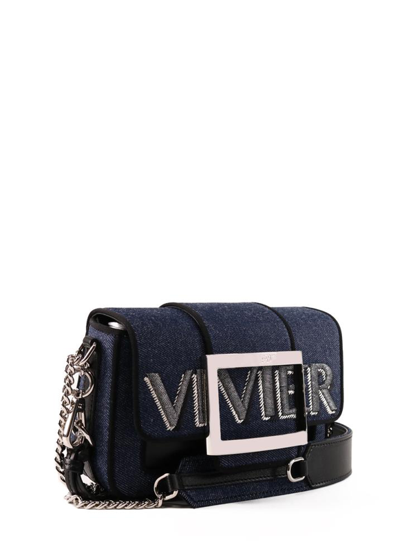 Roger Vivier Call Me Vivier Micro Bag In Blue