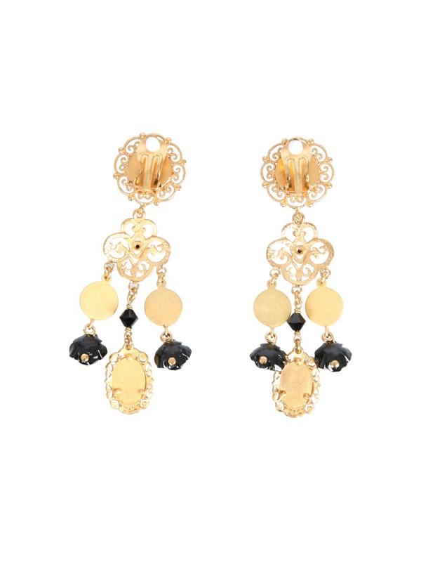 Dolce & Gabbana Clip Pendant Earrings In Gold