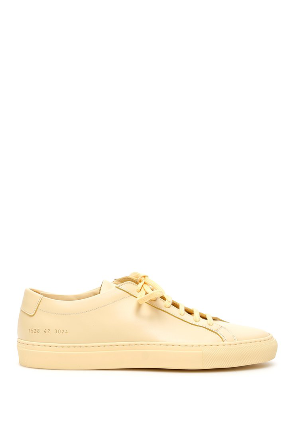 Common Projects Original Achilles Low Sneakers In Yellow