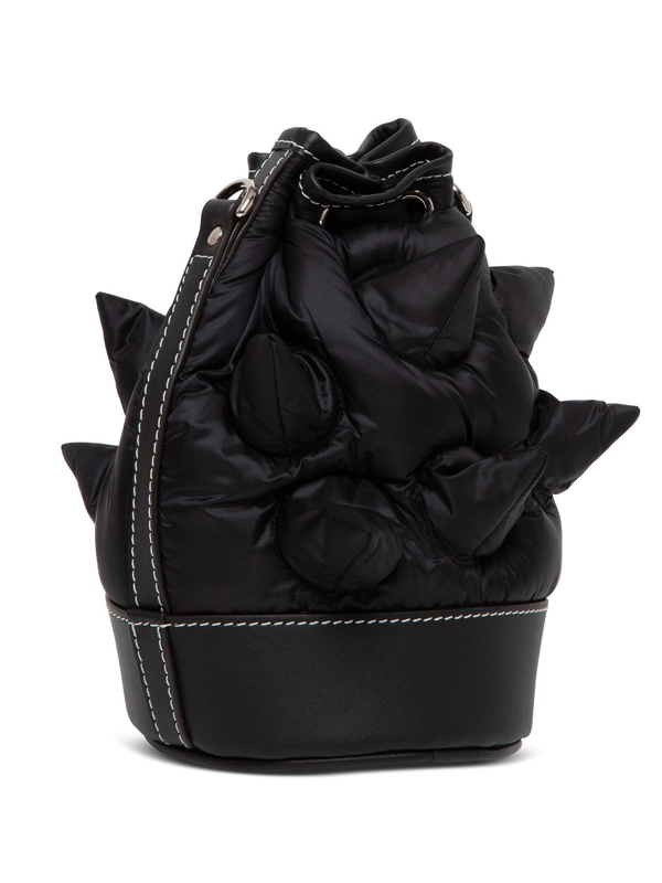Moncler Genius Critter Bucket Bag In Nylon And Leather By Jw Anderson In Black