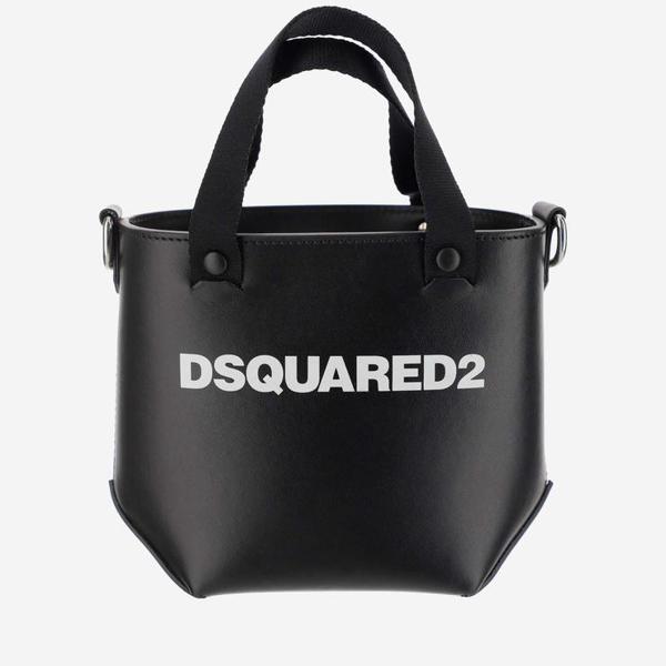 Dsquared2 Women's Black Leather Handbag In Nero