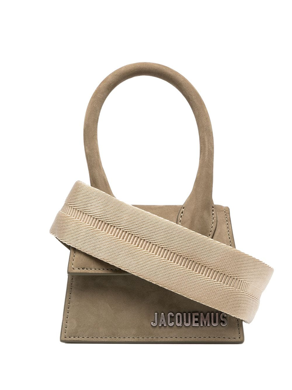 Jacquemus Chiquito Homme Suede Mini Bag In Green