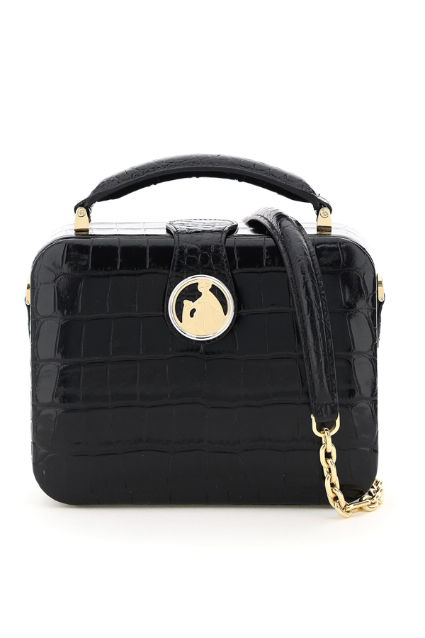 Lanvin Bento Box Minaudiere Bag In Black