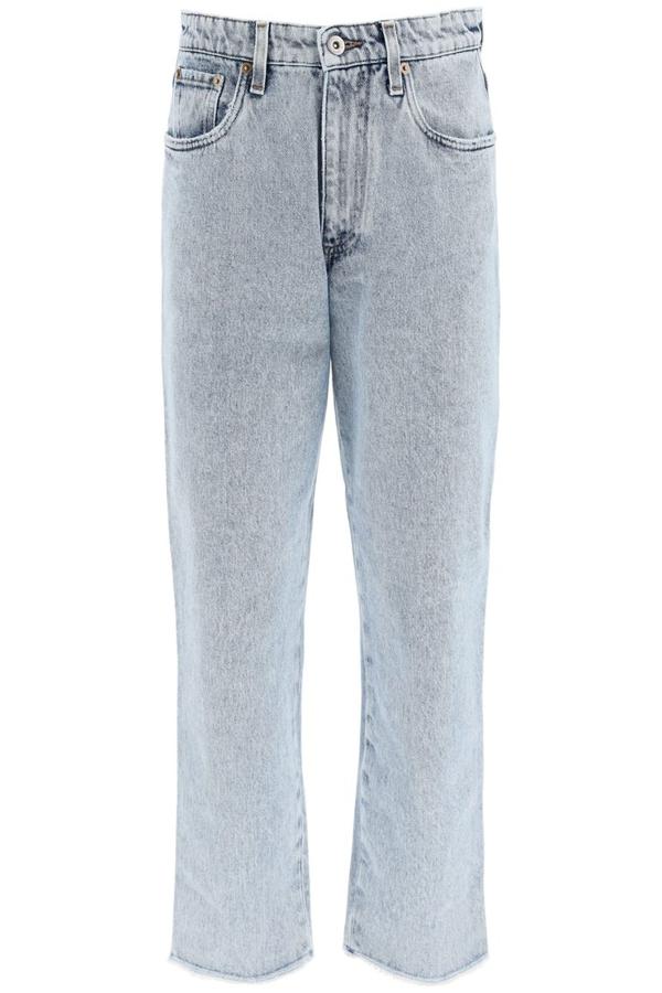 Miu Miu Iconic Denim Jeans In Azzurro