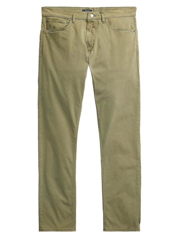 Polo Ralph Lauren Sullivan Cotton Stretch Slim Fit Pants In Army Olive