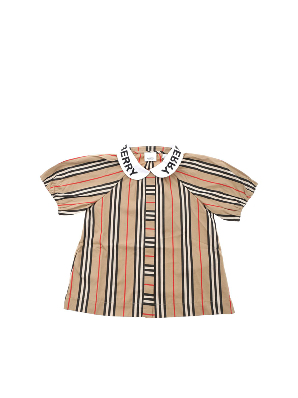 Burberry Kids' Cecily Shirt In Archive Beige Color