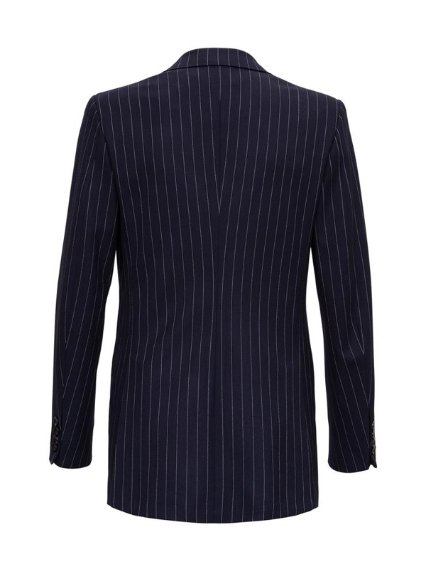 Tonello Double-breasted Pinstripe Jacket In Blu