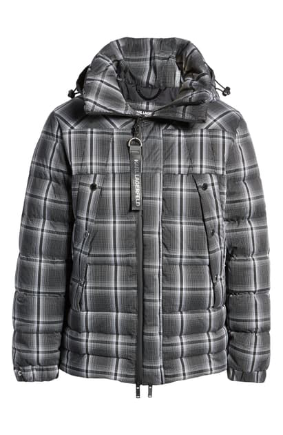 Karl Lagerfeld Ski Active Down & Feather Coat In Black