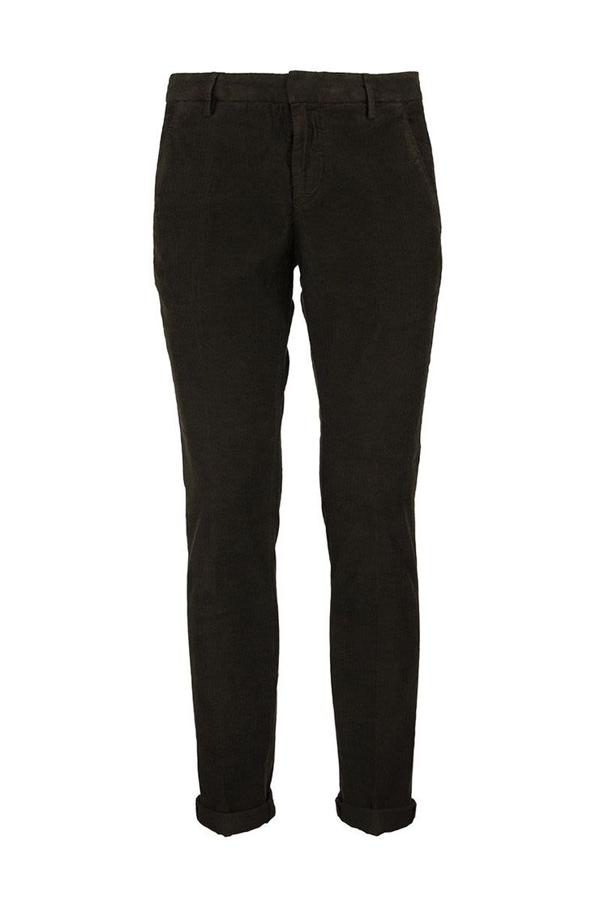 Dondup Gaubert Slim-fit Jersey Trousers In Dark Green