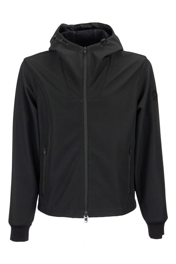 Fay Unlined Bomber With A Hood In Black