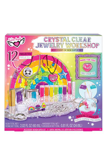 Fashion Angels Kids' Crystal Clear Jewelry Workshop In Pink