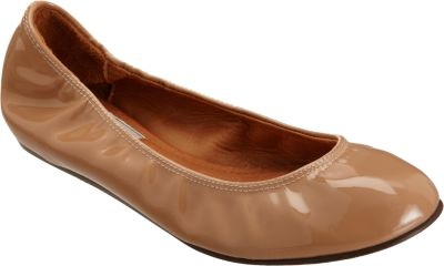 Lanvin Woman Patent-Leather Ballet Flats Sand In Nude