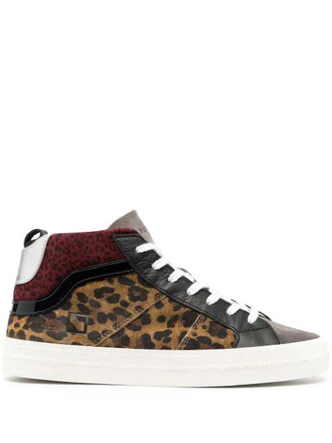 D.a.t.e. D.a.t.e Sneakers - Hawk Wild Leopard In Grey