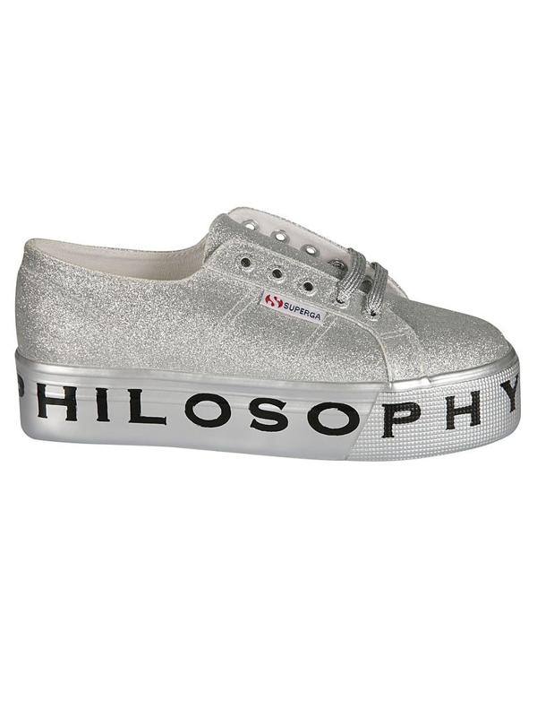 Philosophy Women's 320271710600 Silver Polyurethane Sneakers