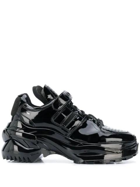 Maison Margiela Chunky Sole Sneakers In Black