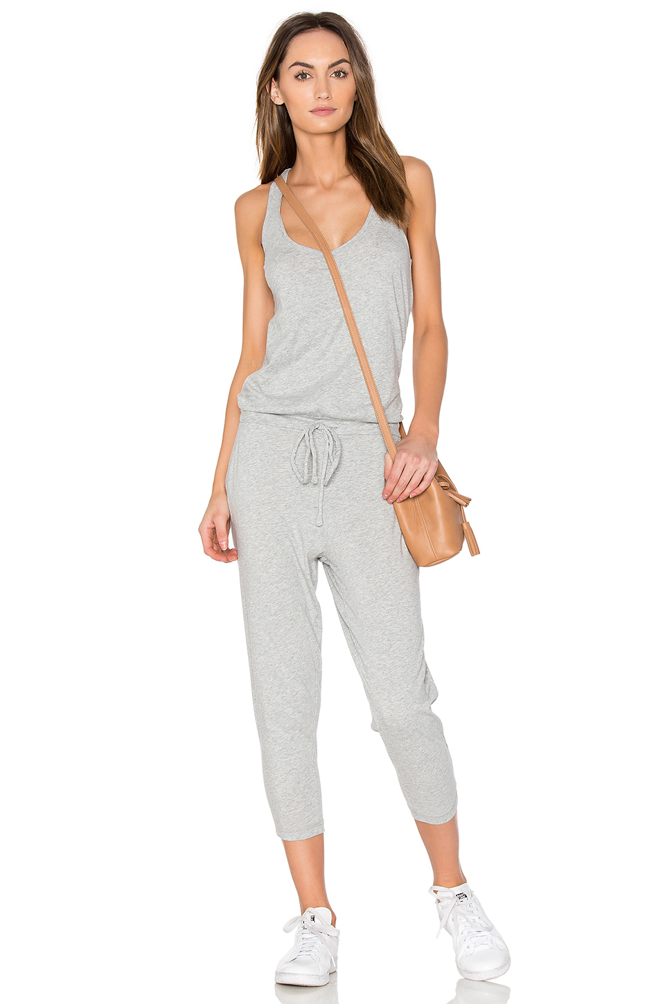 a04d0b5bd187 Bobi Supreme Jersey Sleeveless Jumpsuit In Grey