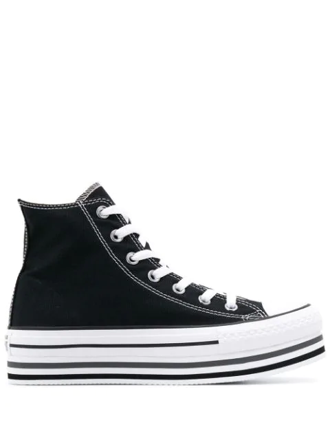 Converse Chuck Taylor All Star Platform Sneakers In Black