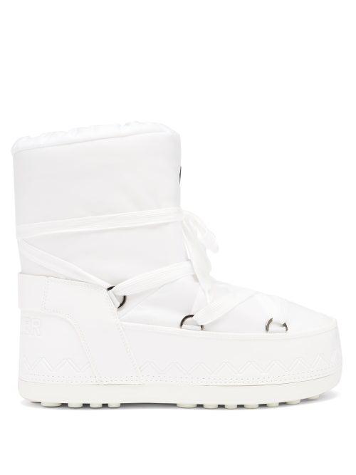 Bogner Trois Vallées Shell Snow Boots In White
