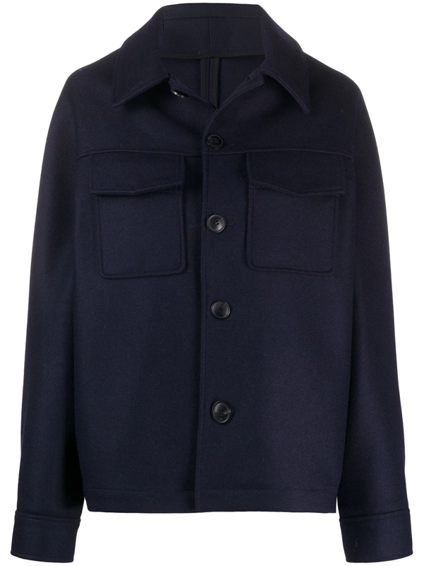 Ami Alexandre Mattiussi Flap Pockets Single-breasted Jacket In Blue