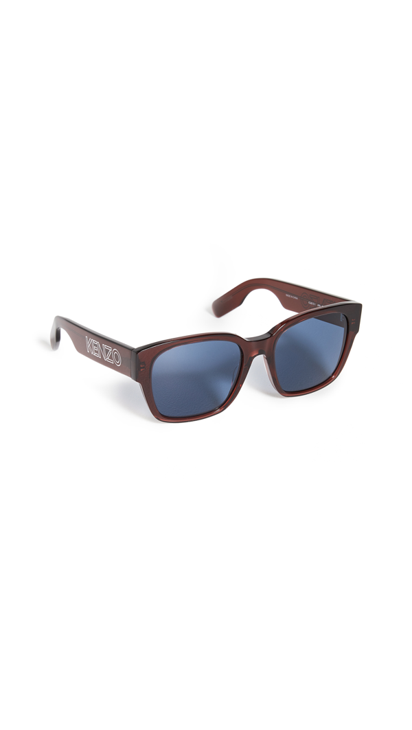 Kenzo Classic Wayfarer Sunglasses In Shiny Bordeaux/gradient Smoke