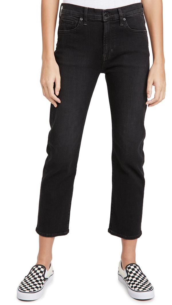 Edwin Elin Crop Jeans In Blackstone