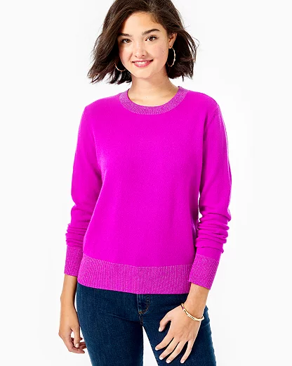 Lilly Pulitzer Women's Prita Cashmere Sweater In Elderberry