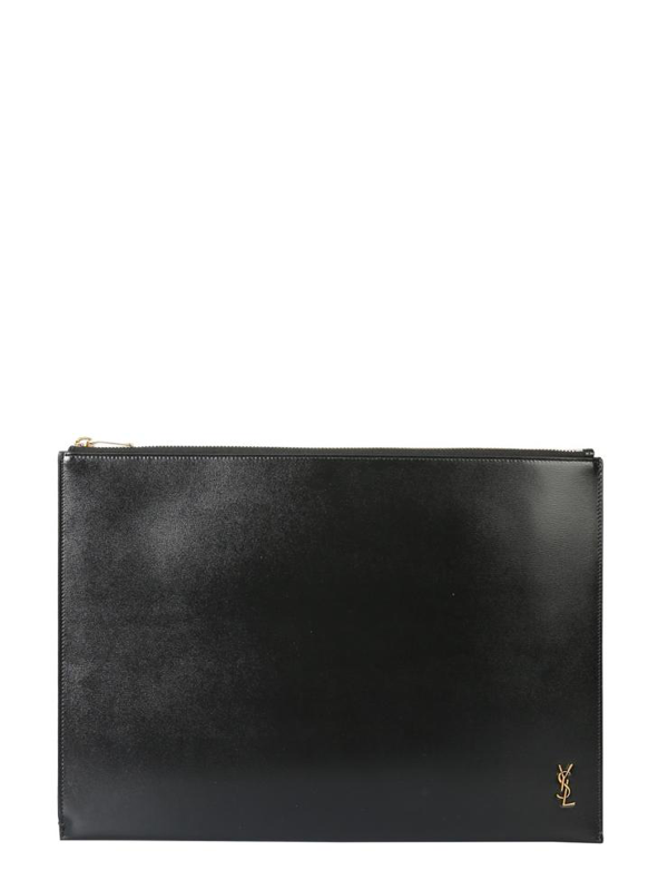 Saint Laurent Pouch With Logo In Nero