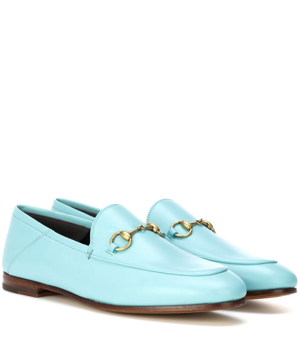 042fb8e61 Gucci Brixton Horsebit Leather Loafers In Blue | ModeSens