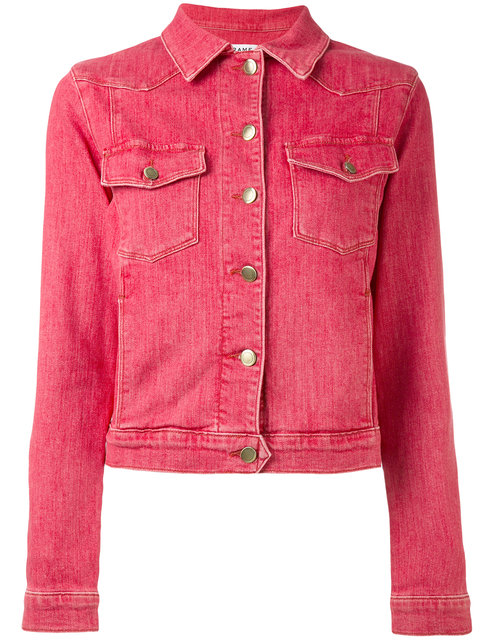 fd3f517b255 Frame Le Vintage Button-Down Denim Jacket In Red