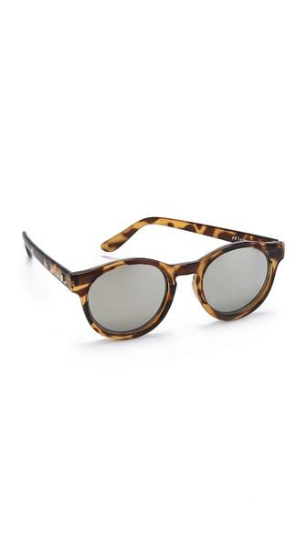 Le Specs Hey Macarena Round-frame Acetate Sunglasses In Tortoiseshell