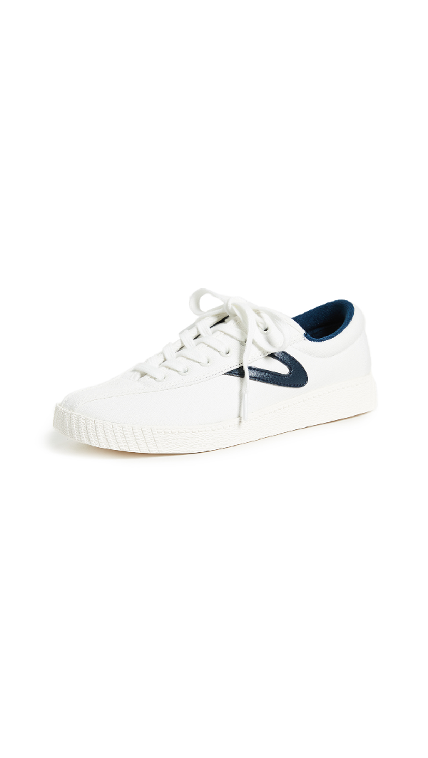 Tretorn Nylite15 Plus Lace-Up Canvas Sneaker In White/Night
