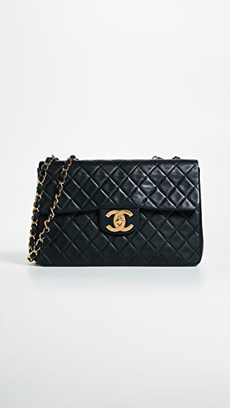 Chanel Jumbo 2.55 Shoulder Bag In Black