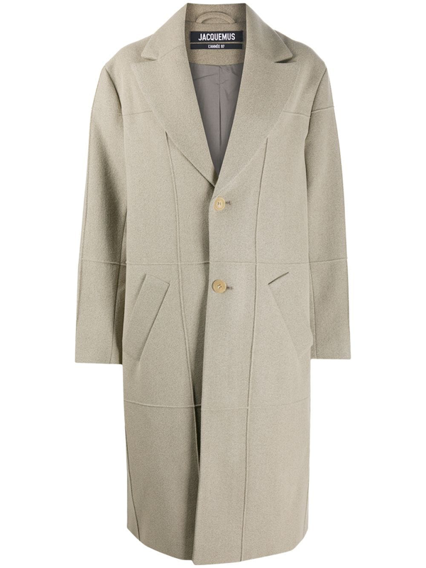 Jacquemus Carro Single-breasted Coat In Brown
