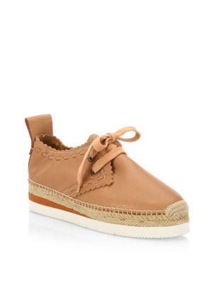 022f3731fe4 See By ChloÉ Glyn Lace-Up Leather Espadrilles In Biscotti